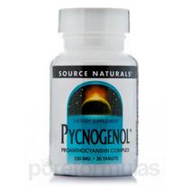 Pycnogenol 100 Mg - 30 Comprimidos Por Source Naturals