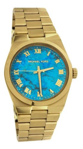 516ba84b0 Relógio Michael Kors Mk5894 Dourado Azul Lindo Frete Grátis (Michael ...