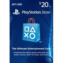 Cartão Psn $20 - Psn Card $20- Gift Card - Ps3/ Ps4/ Ps Vita