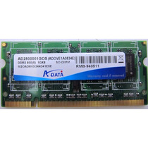 Memória A Data 1 Gb Ddr2 800mhz Pc-6400 Sodimm P/ Notebook