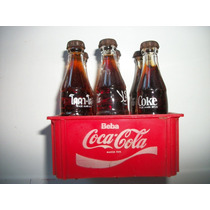 Mini Garrafinhas Coca-cola + Engradado