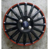 Calota Jogo 4pçs New Fiesta Focus Ford Aro15 P833j
