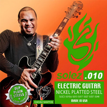 Encordoamento Para Guitarra 010 Solez Cacau Santos Slg Cs