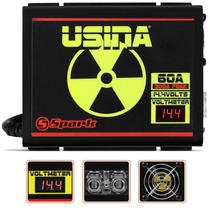 Fonte Spark Usina 60a Carregador Bateria C/ Voltimetro 14,4v