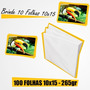 100 Folhas Papel Fotográfico 10x15 Glossy 265g + Brinde