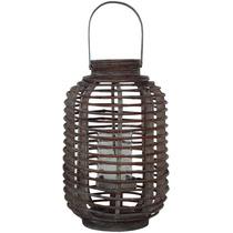 Lanterna Saigon Max Em Madeira Marrom