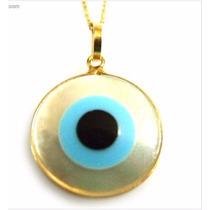 Pingente Olho Grego Em Ouro 18k
