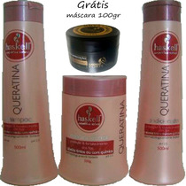 Kit Haskell Queratina 500ml 3itens Amk Cosméticos