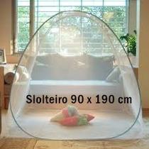 Mosquiteiro Solteiro 90 X 190 Cm Branco Rosa