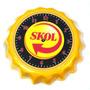 Relógio Estilo Tampinha Estampado Logo Skol Enfeite 22cm