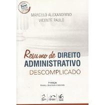 Resumo De Direito Administrativo Descomplicado - Mavp - 2016