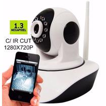 Camera Ip Sem Fio Hd 720p 1.3 Mp Wi-fi Noturna Gira 360 Top