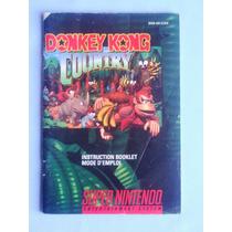 Manual- Donkey Kong Country 1 - Snes - 100% Original