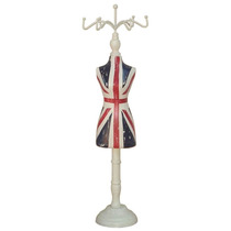 Porta Bijoux De Madeira Vestido Reino Unido - 41x9 Cm
