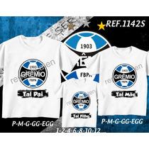 39c98d5edff121 Kit Camisetas Tal Mãe Tal Pai Tal Filho Grêmio Time Futebol à venda ...