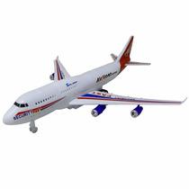 Avião Brinquedo Decoração Com Led E Fricção
