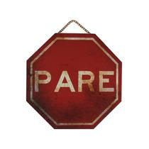 Placa De Trânsito Em Mdf - Pare - Quadro