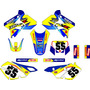 Kit Adesivo Grafico Plotagem Moto Trilha Drz 400 2011 Md 11