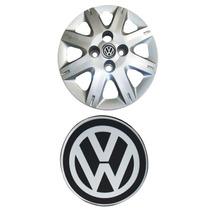 Kit De 4 Emblemas Volkswagen Para Rodas Ou Calotas