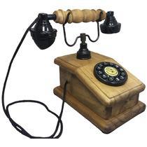 Telefone Antigo Retro Vintage Nelconde Imbuía