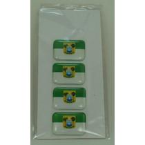 Bandeira Rio Grande Do Norte Tarjeta Adesivo Pla 2,3 X 1,6cm