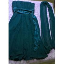 Vestido Tomara Que Caia Curto Verde Maravilhoso