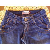 Linda Calça Em Jeans C/ Lycra Cint Baixa Corte Reto Zuken