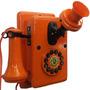 Telefone Antigo Retrô Vintage Nelphone De Parede Laranja