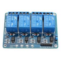 Módulo Relé 4 Canais 5v + Código Arduino Pic Avr Melor Frete