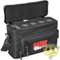 Case Gator 4 Microfones Gm-4 C/ Alças E Acessórios Oferta