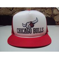 Boné Aba Reta Chicago Bulls Trucker Snapback Frete Gratis