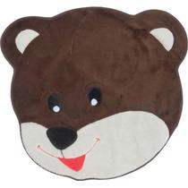 Tapete Infantil De Pelúcia Urso Carinho - 67cm X 67cm Tabaco