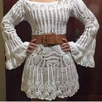 Vestido De Croche Feito A Mão Sob Medida Todas As Cores