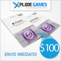 Itunes Gift Card $100 - Cartão Itunes $100 Ipod Iphone Ipad