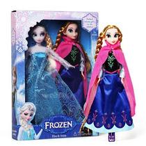 Kit Bonecas Frozen, Rainha Elsa E Princesa Anna 29cm