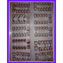 Adesivos Artesanais P/ Unhas Cartelas Com 12 Adesivos