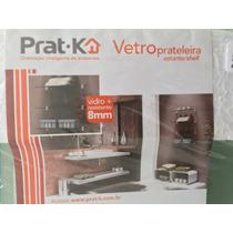 Prateleira Prat-k Em Vidro 8 Mm Com Suportes 15x40 Cm