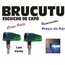 Brucutu Esguicho Água Iluminado Preto - Led Verde