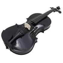Violino Sverve 4/4 Preto Com Estojo Luxo, Arco E Breu