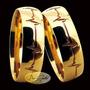 Par De Alianças Em Ouro 18k Batimetos Cardíacos