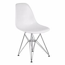 Cadeira Eiffel Charles Eames Em Pp Sólida Base Cromada