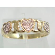Pocao2005-anel-ouro 18k Diamantes Coraçoes Frete Grátis!