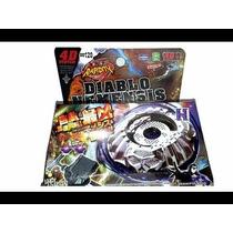 Beyblade Metal Fury 4d Diablo Nemesis Bb122+2 Super Lançador