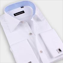 Camisa Social Branca De Abotoadura Com Abotuadura Grátis