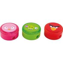 Apontador C/ Deposito Angry Birds Redondo Plastico C 18
