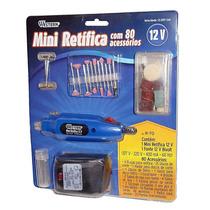Kit Micro Mini Retífica 12000rpm Bivolt Com 80 Acessórios