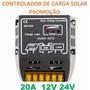 Controlador De Carga Bateria Solar 20a Amperes Fotovoltaico