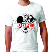 Camisetas Swag King Estilo Dope Mickey 4:20 Diamante