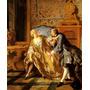 Casal Namoro Cinta Liga 1724 Pintor Troy Tela Repro
