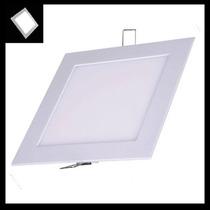 Luminária Plafon Led Embutir 18w Quadrada Slim - Branco Frio